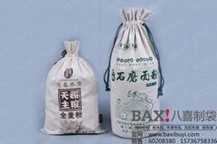 河南郑州环保棉布面粉袋广告宣传厂家定做