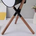 Unique Leather 3 Legs Desk Lamp Wooden Decoration Table Lamp Metal Tripod Lamp 2