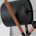 Unique Leather 3 Legs Desk Lamp Wooden Decoration Table Lamp Metal Tripod Lamp 3