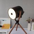 Unique Leather 3 Legs Desk Lamp Wooden Decoration Table Lamp Metal Tripod Lamp 4