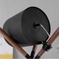 Unique Leather 3 Legs Desk Lamp Wooden Decoration Table Lamp Metal Tripod Lamp 5