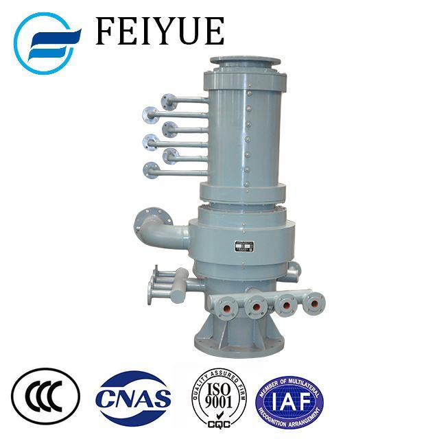 Hydraulic oil multipath compressed air converter trunnion