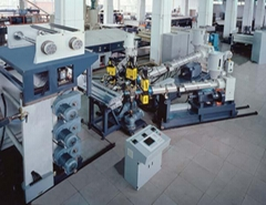 PE three layer sheet production line