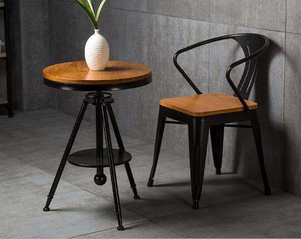 實木咖啡桌椅 1