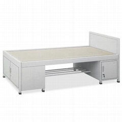 Dormitory Employees Single Bed Troop Soldier with Cabinet Tie Beds School Apartm