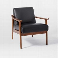 北歐實木灰簡約客廳臥室陽台沙發單人小公寓沙發