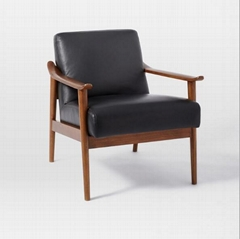 Nordic solid wood gray simple living room bedroom balcony sofa single small apar