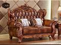 欧式皮沙发固体雕花客厅豪华别墅豪华包欧式真皮沙发 3