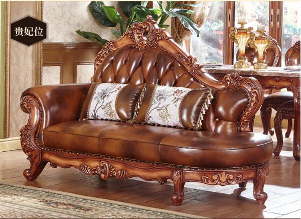 欧式皮沙发固体雕花客厅豪华别墅豪华包欧式真皮沙发 5