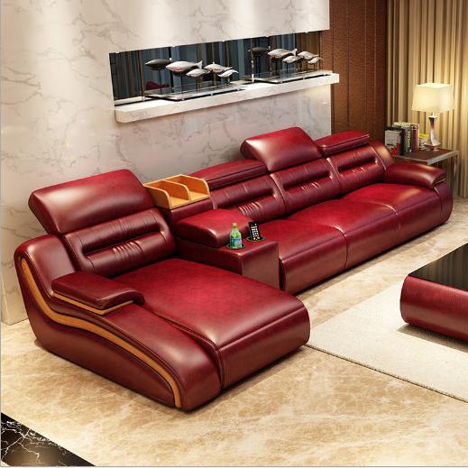真皮沙发现代简约风格真皮客厅沙发组合 1