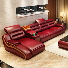 真皮沙发现代简约风格真皮客厅沙发组合