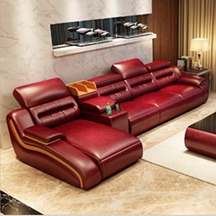 Leather Sofa Modern Simp