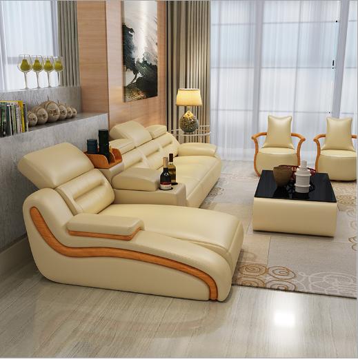 真皮沙发现代简约风格真皮客厅沙发组合 4