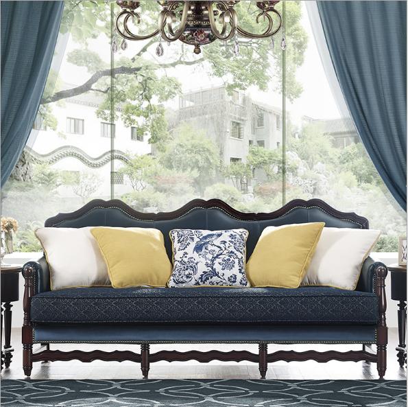 美式实木沙发可定制 1