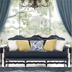 美式实木沙发可定制