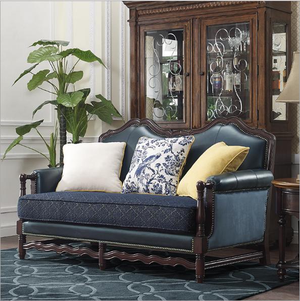 美式实木沙发可定制 2