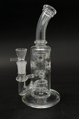 glass waterpipe bong straight fab dabrig beaker functional glass smoking hookah