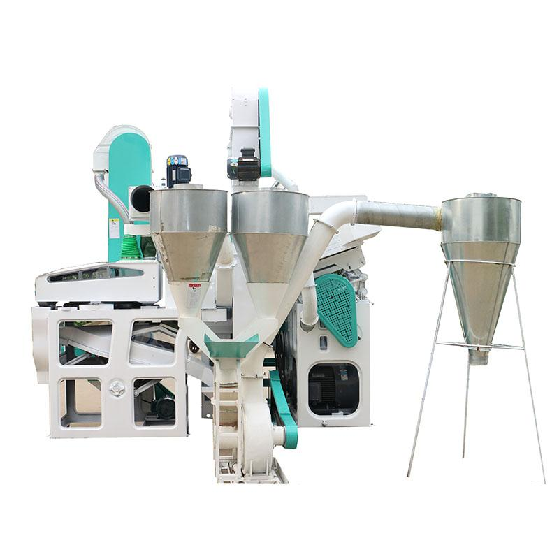1 Ton Per Hour Capacity Combined whole set rice mill machine 3