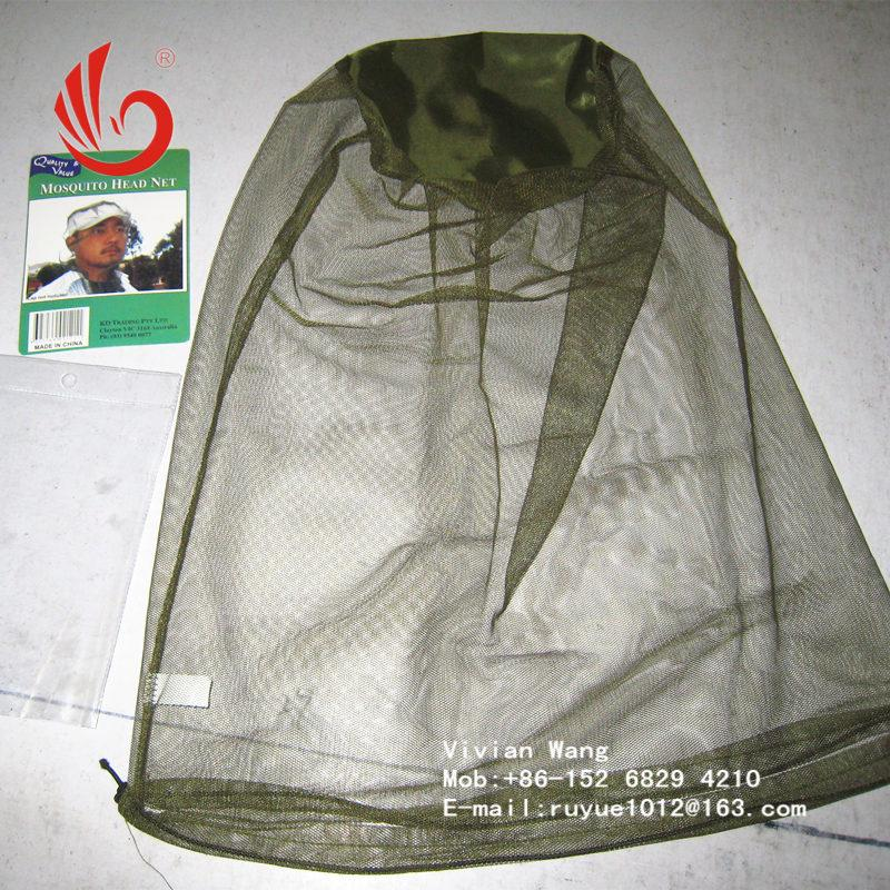black/green mosquito head nets bug off cap 1