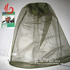 black/green mosquito head nets bug off cap