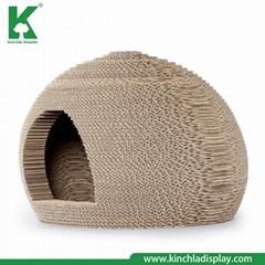 Wholesale 2018 Latest Model pet Cage Corrugated Paper Cat Scratcher House Furnit