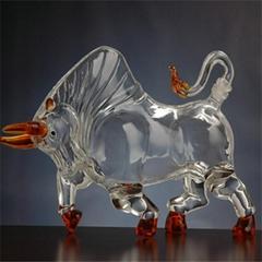 十二生肖牛形工艺玻璃酒瓶