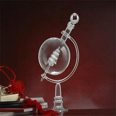 地球仪形玻璃工艺酒瓶