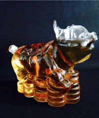 Animal shaped glass craft bottle