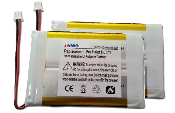 JINWO 7.4V Lipo battery replacement battery for Haier HLT71,LCD TV