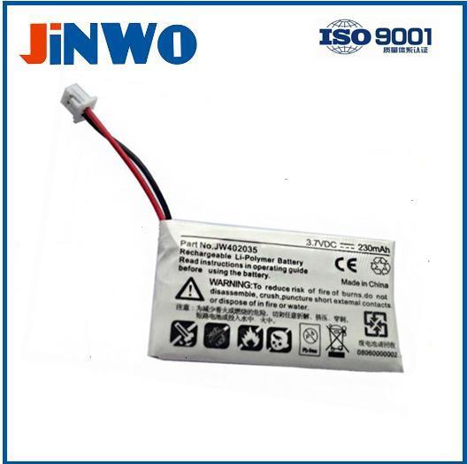 3.7V 230mah headset battery for Plantronics CS-55, CS-60, CS50,bluetooth battery