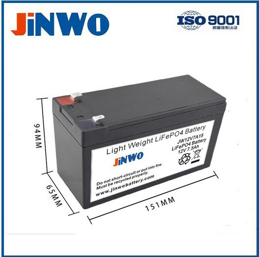 12V LiFePO4 Battery 7Ah 7.5Ah for Alarm Systems Lead Acid Replacement Battery