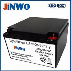 100W - 200W Solar Street Light Lithium Ion LiFePO4 Battery 12V 24Ah