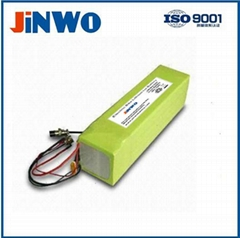 Folding e-bike lithium battery 36V 10Ah ebike lipo battery pack