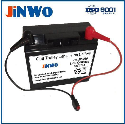 LiFePO4 12V 22Ah Golf Caddy Battery Electric golf trolley lithium ion battery