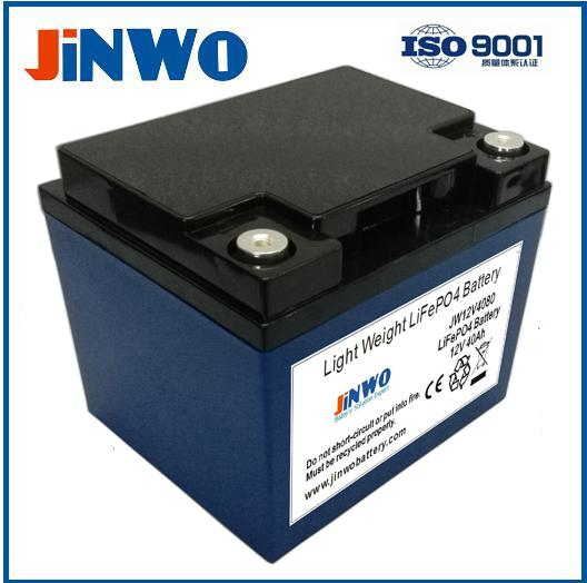 12V 40Ah Lithium Ion LiFePO4 Battery 12V 40AH Lithium Deep-Cycle LiFePO4 with M6
