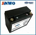 Lightweight lithium starter battery for motorsport 12V 2.5Ah--10Ah