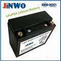 Ultra High Performance Lithium Ion Phosphate Race Car Battery 12V 10Ah PbEQ 40Ah