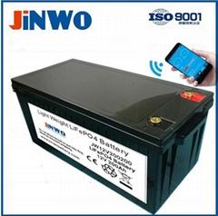 12V 200AH RV Boat Lithium Ion Bluetooth Battery LiFePO4 Battery 12V 200Ah