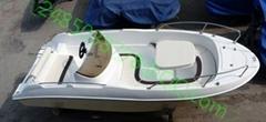 特賣480全純玻璃鋼快艇釣魚船休閑觀光旅遊沿海挂外挂機動豪華