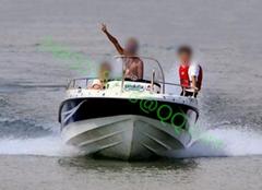 促銷新品580玻璃鋼快艇釣魚船觀光救生巡邏外挂機高速外海10人