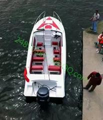 12客位7.3米全玻璃钢旅游观光艇高速船40节速度救援运输多用途