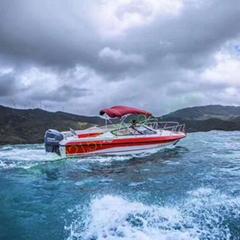 玻璃钢旅游艇7.6米12客位高速度进口船型