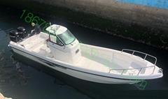 玻璃钢钓鱼艇8.5米12客位配双机高速度