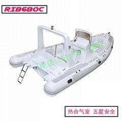 青岛渔尚RIB680玻璃钢充气高速艇