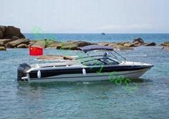 青岛渔尚游艇15客位FPB880玻璃钢旅游专用艇快