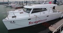 供应澳洲引进38英尺玻璃钢双体游艇双卧室双动力