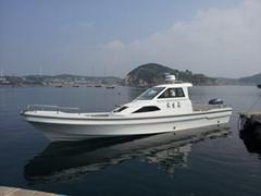 渔尚FFB960F玻璃钢双机钓鱼休闲艇 渔业厅指定船型载重量大