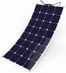 Photovoltaic 100W 18V Flexible Solar Panel Mono Cell Module Kit for Yacht RV Boa