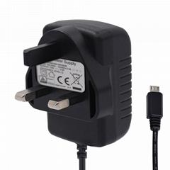 12W系列英规BS平插电源适配器