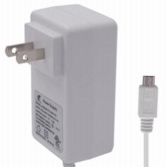 白色美规电动工具电源适配器
